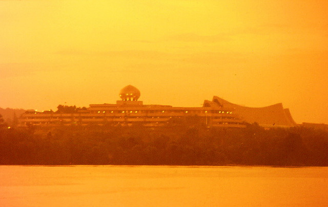 Istana Nurul Iman at dawn